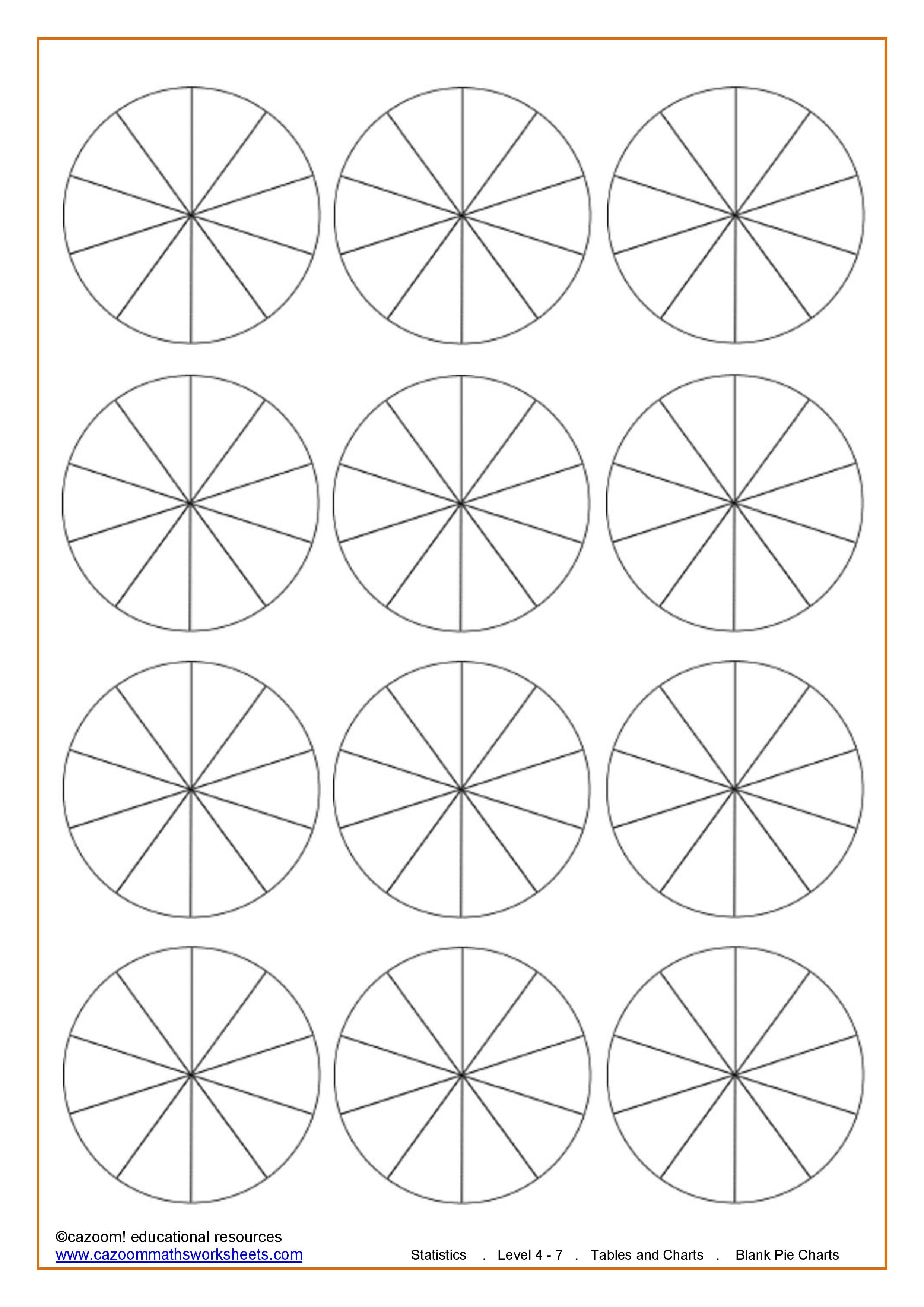 Blank Pie Charts 10 Sections