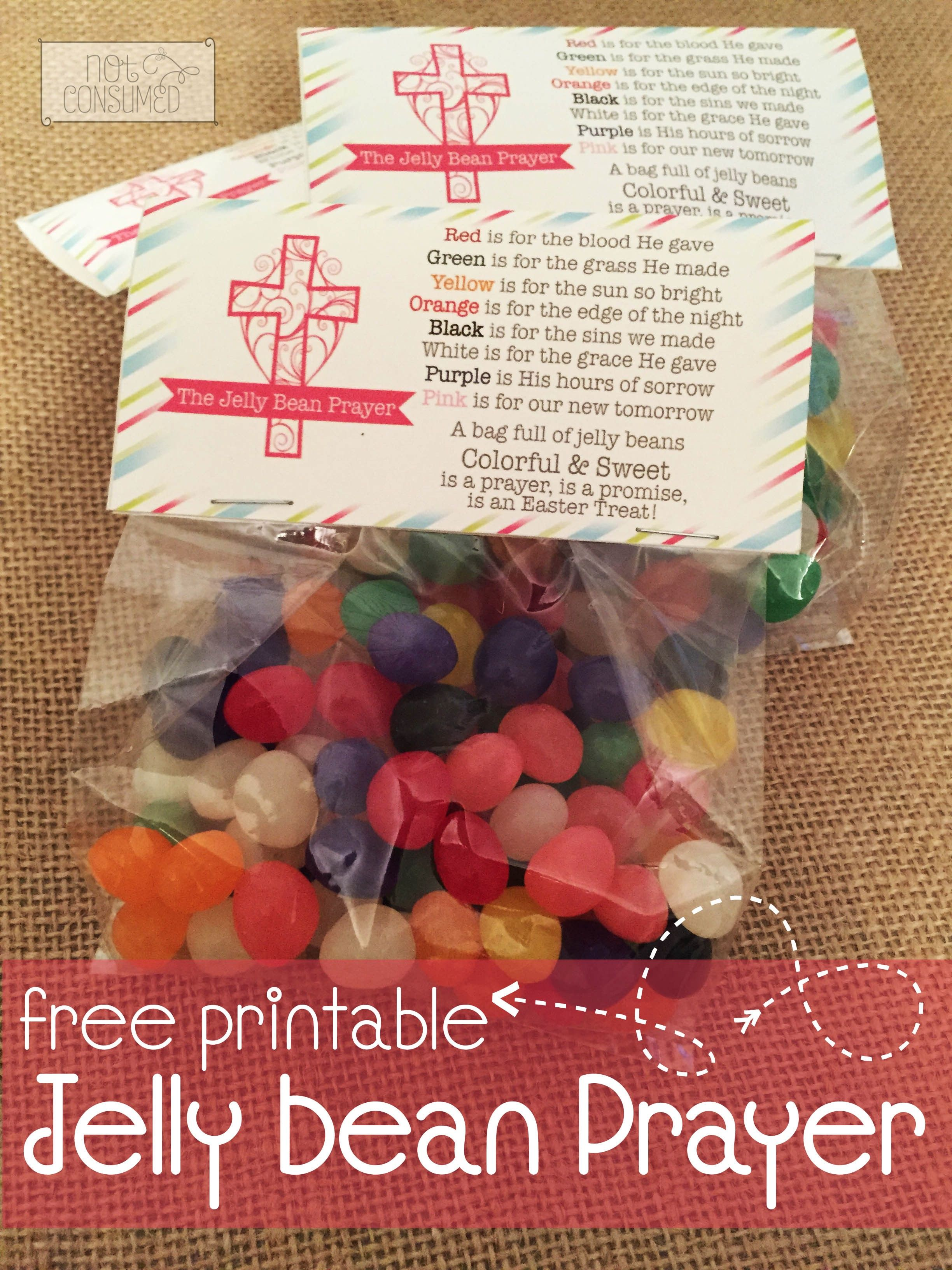 Jelly Bean Prayer Printables