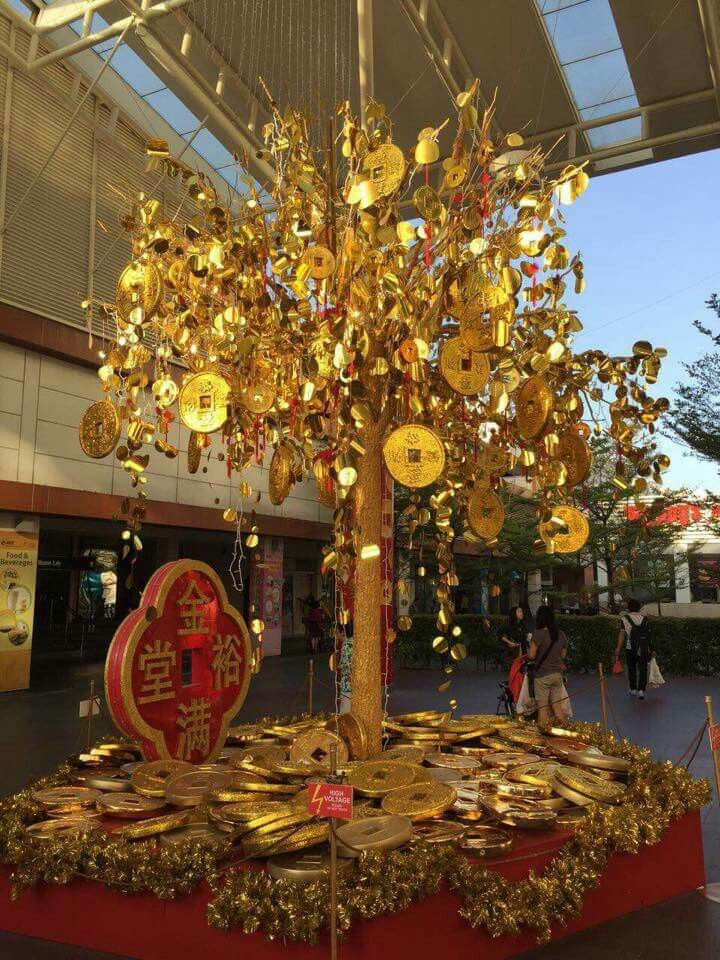 CHRISTMAS TREEA golden Money Tree for Chinese New Year