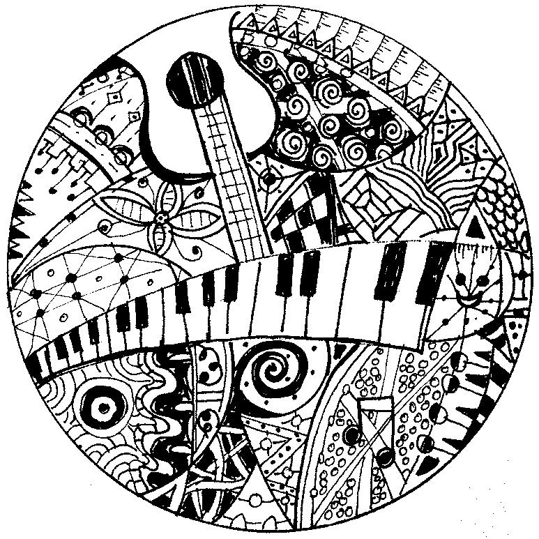 """iColor """"Music"""" Keyboard and guitar (773x773) iColor"""
