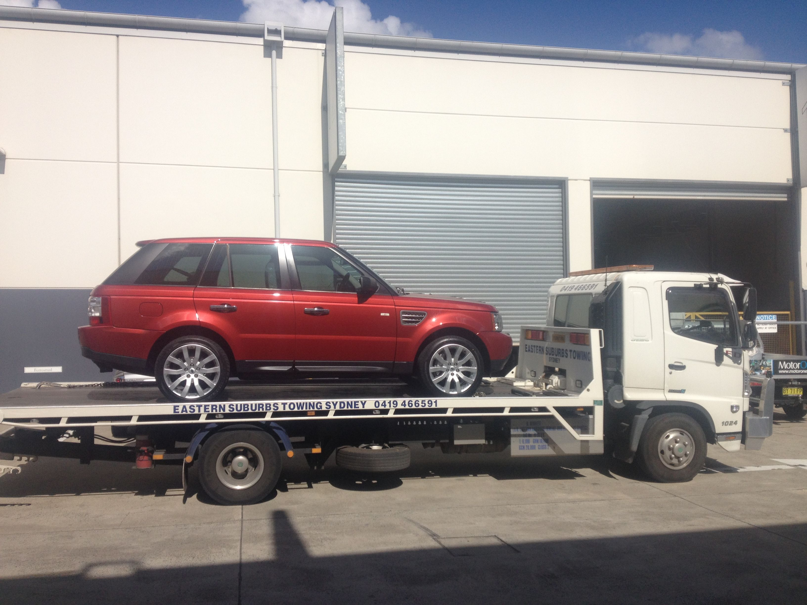 Towing a Range Rover from Rosebery to Silverwater for Stratton
