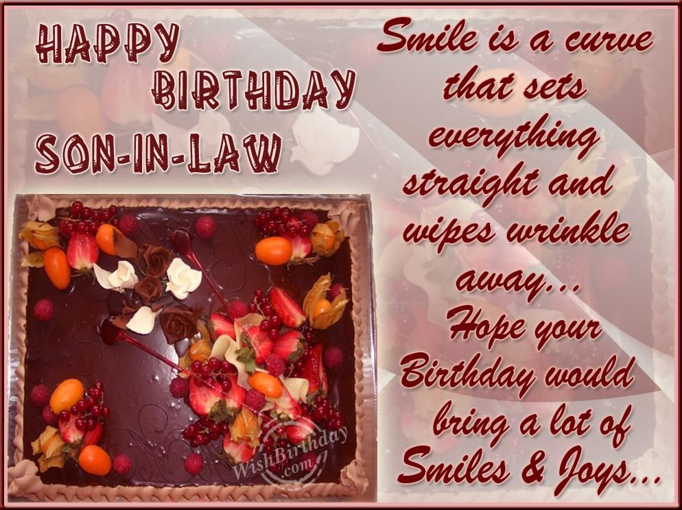 Birthday Quotes Son in Law Bing Images Greeting Card