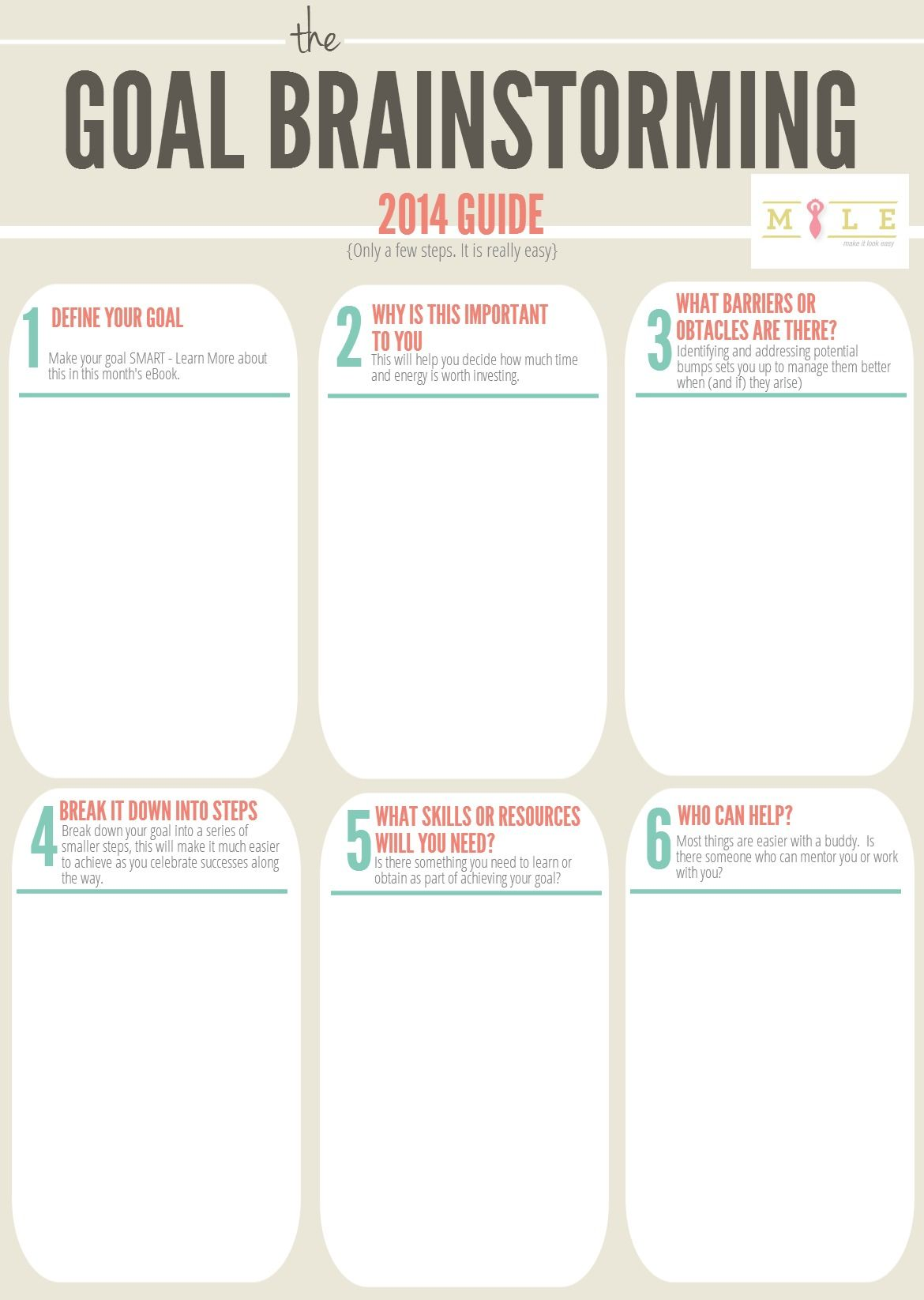 Use This Worksheet To Help You Brainstorm And Plan Out Your Goals For Find Out More In Our