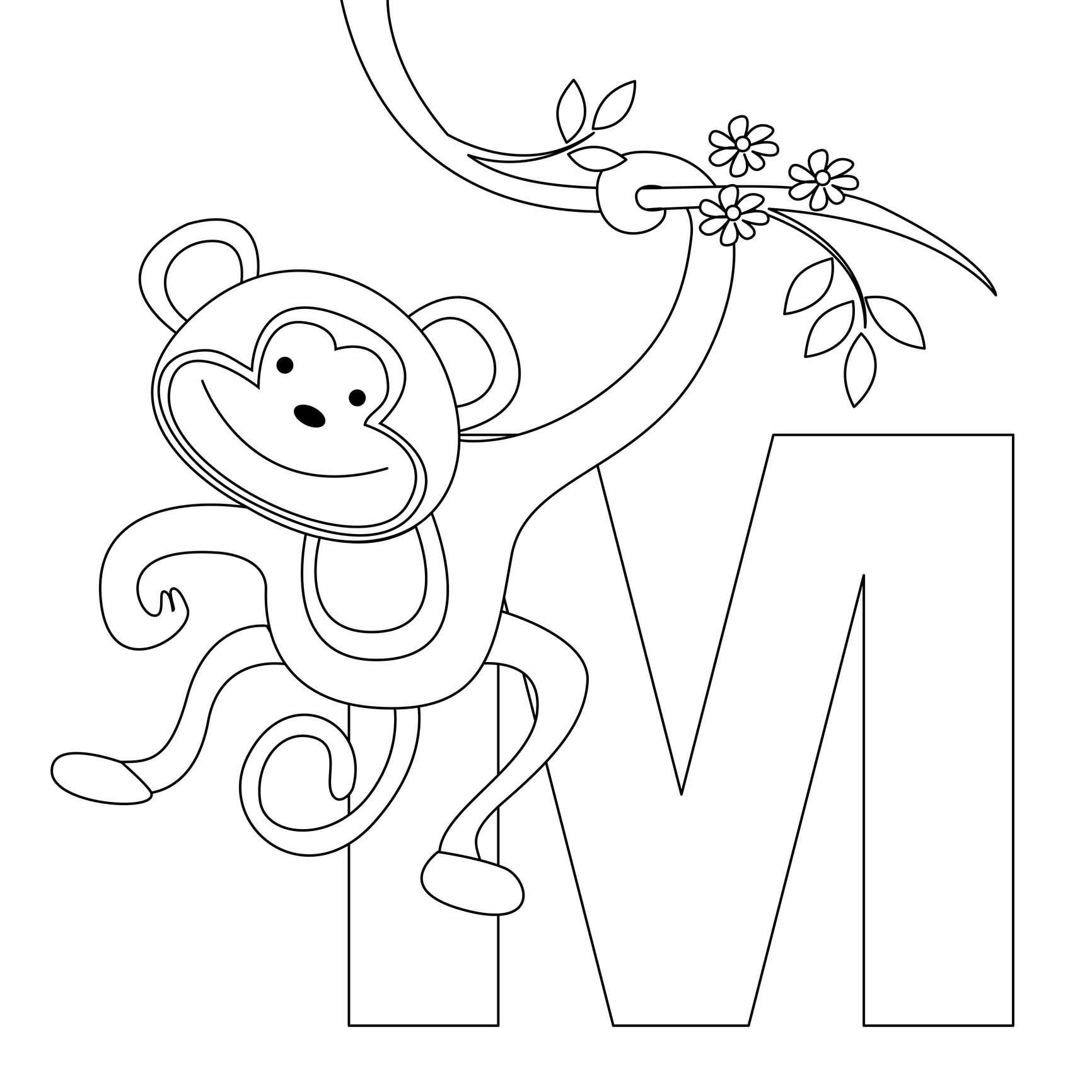Animal Alphabet Letter M For Monkey Here S A Simple