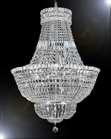 French Empire Crystal Chandelier Lighting H30 W24 A93 Silver 454 9 Chandeliers And Crystals