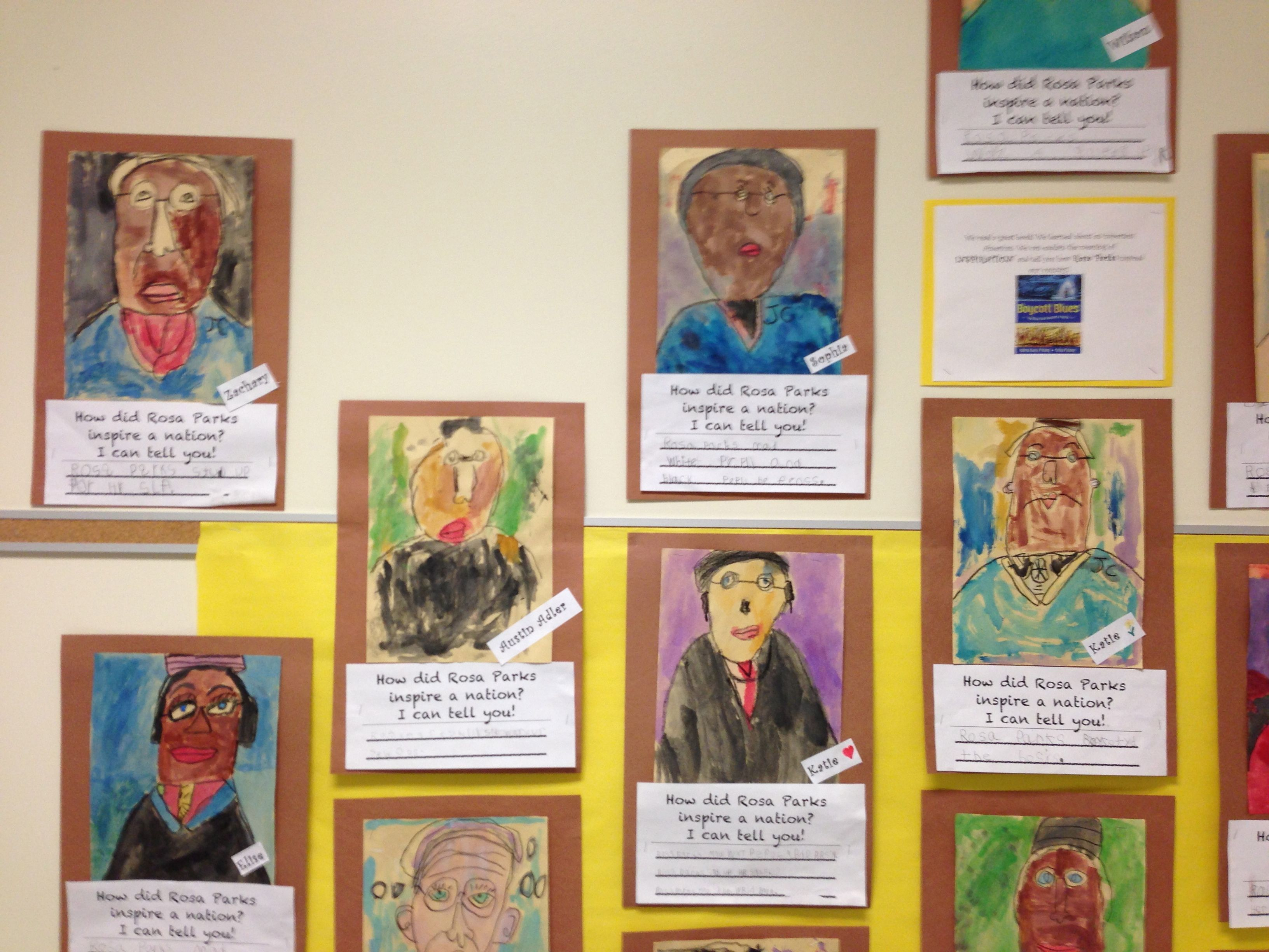 Black History Month Rosa Parks Writing And Art Project
