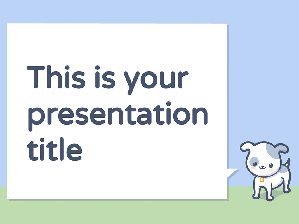 A Free Presentation Template With Cute Pets Illustrations Dog Cat Hamster Or Golden Fish