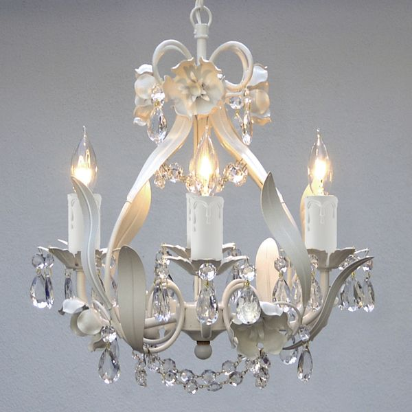 Add A Touch Of Classic Elegance To Your Home With The Mini White Fl Crystal Chandelier Beautiful Design Adds Unique Look E