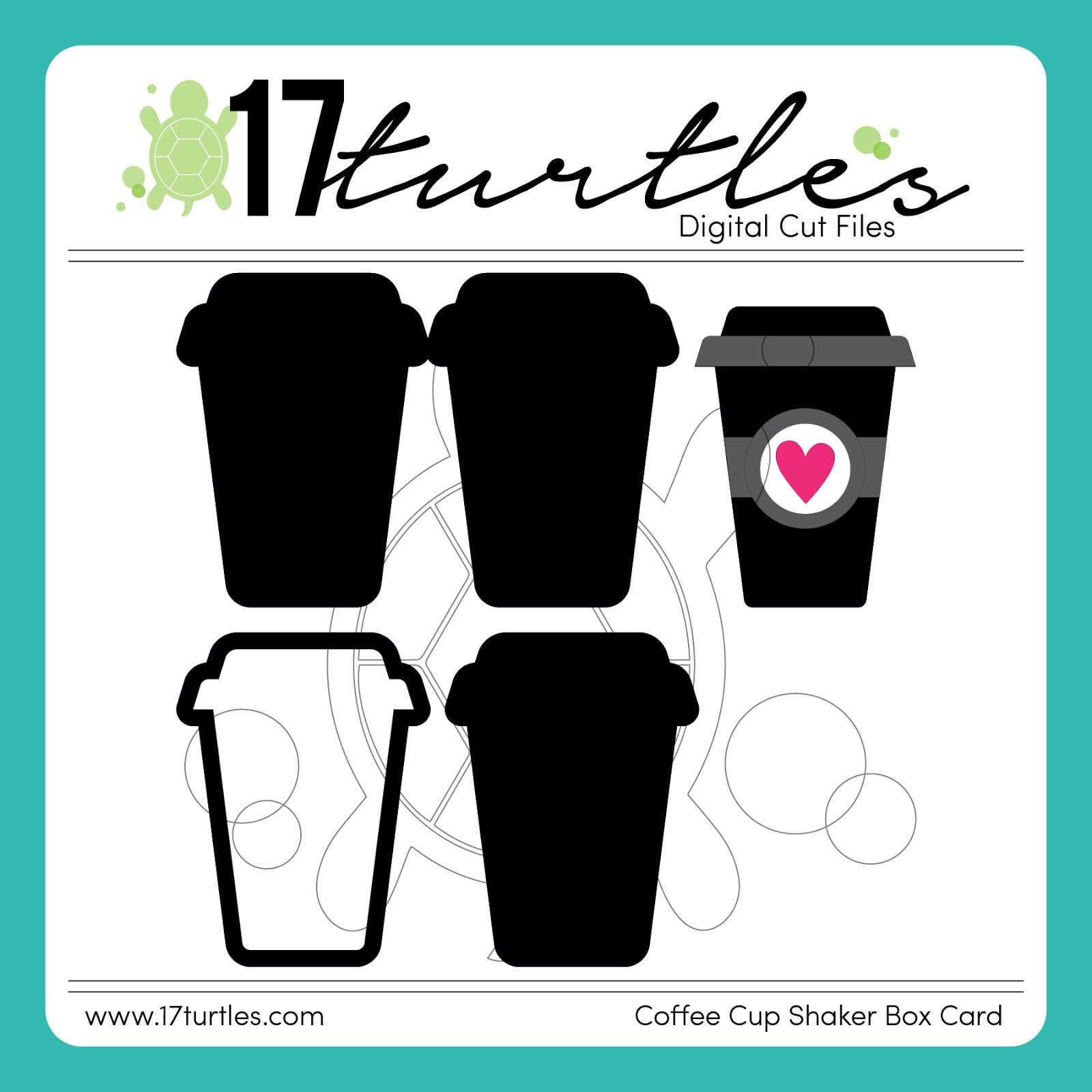 Coffee Cup Shaker Box Card Free Digital Cut File by