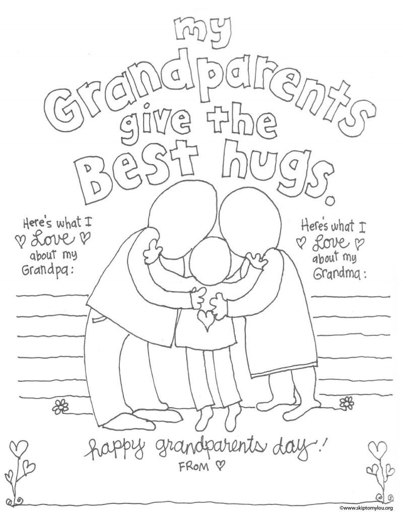 grandparent coloring pages for grandparents day  diy