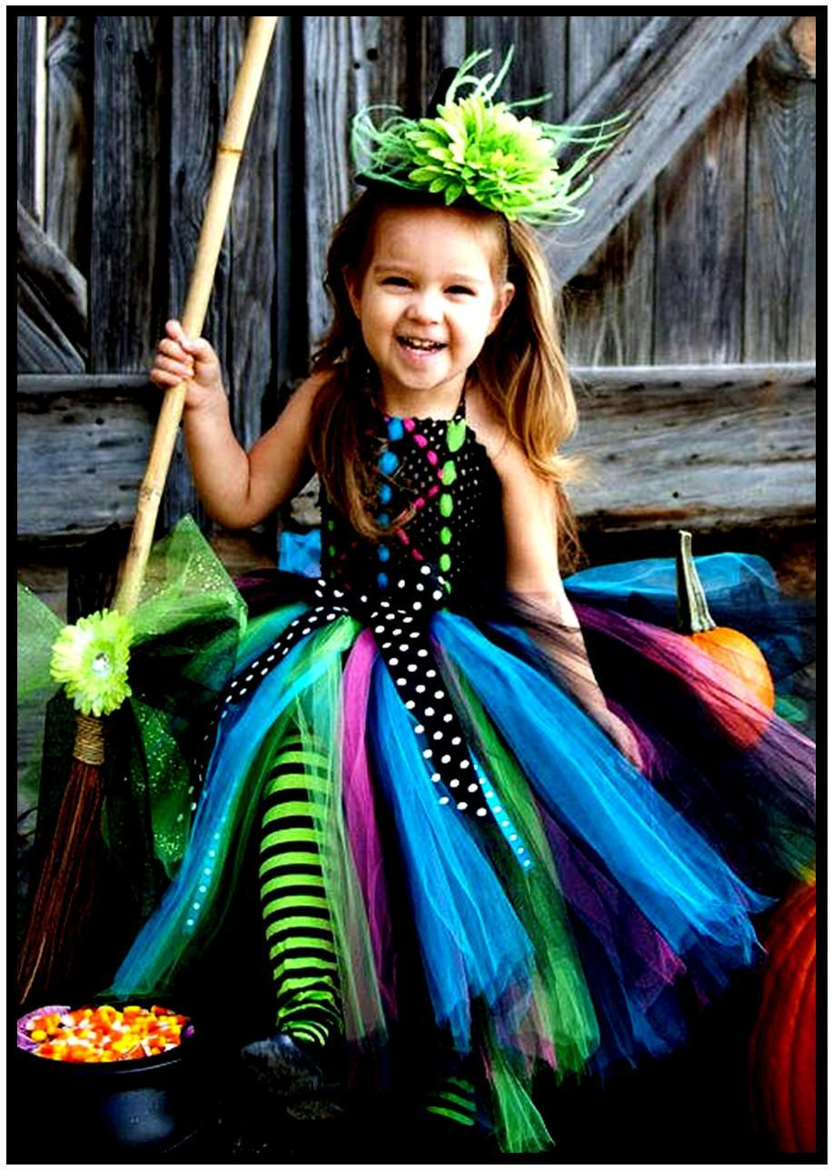 Wicked Witch Halloween Costume Tutu Dress and Witch Hat by