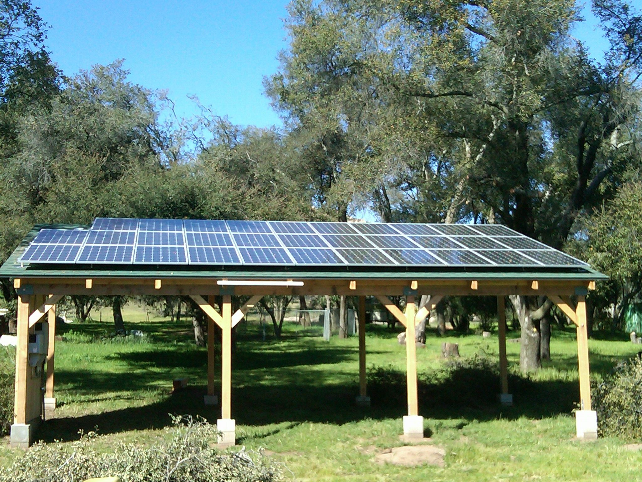 7.84 special carport mount solar PV system designed and
