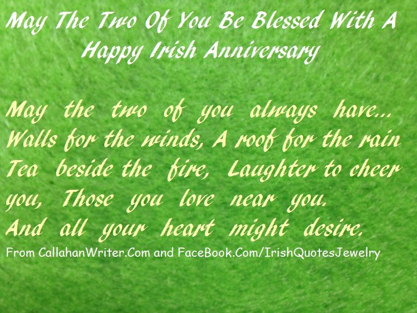 Irish Anniversary Quote. Part of the biggest collection of
