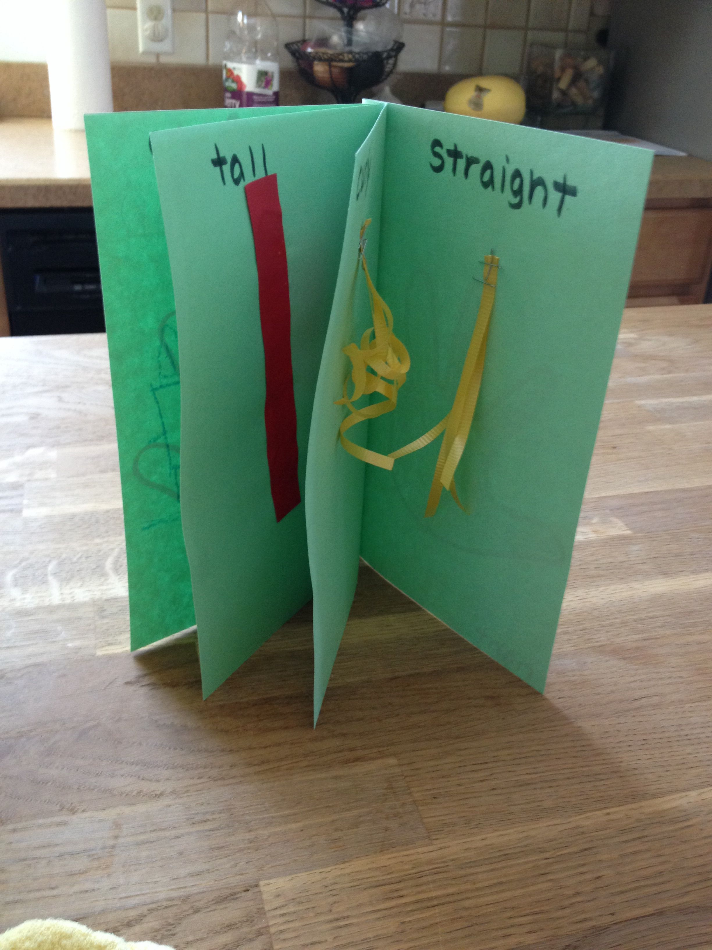 Preschool Craft Opposites Book Left Right First Last Curly