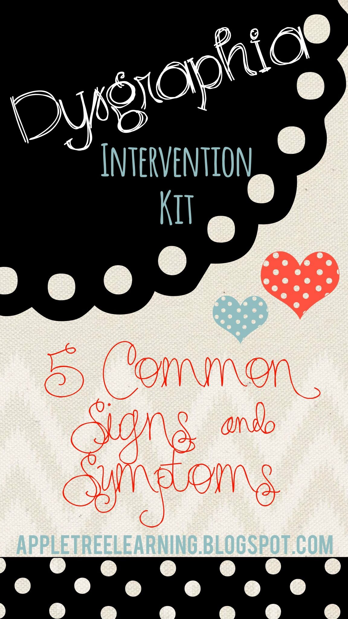 Dysgraphia Intervention Kit Rti Intervention Sped
