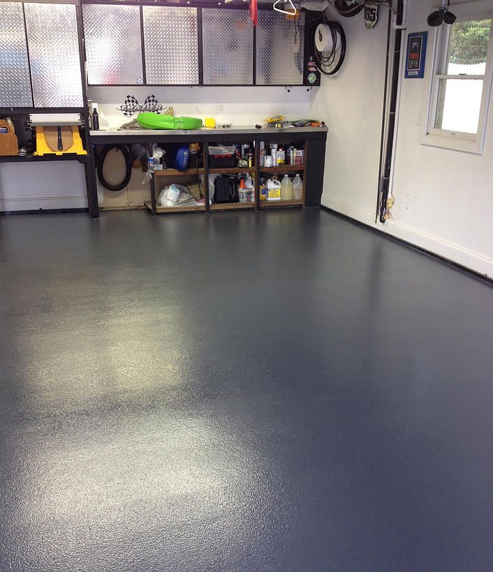Finished a NonSlip Chemically Resistant Concrete Garage
