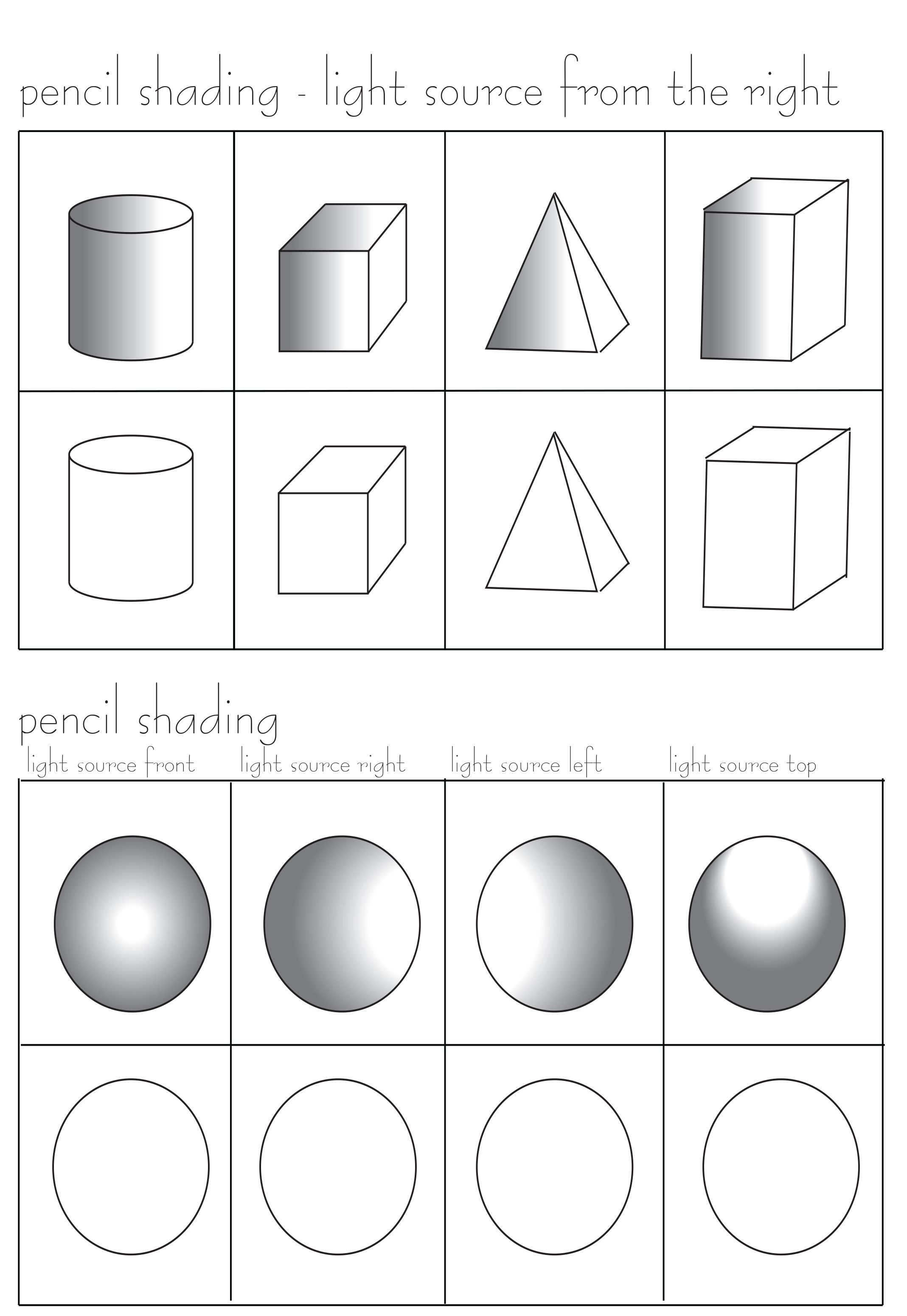 Pencil Shading Worksheet Free At