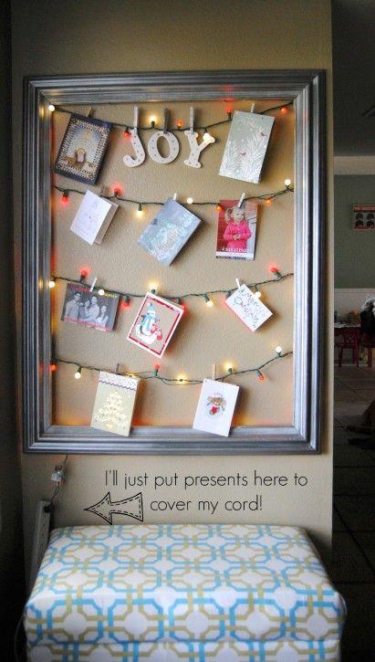 Framed Christmas Card Display Card Displays Photo