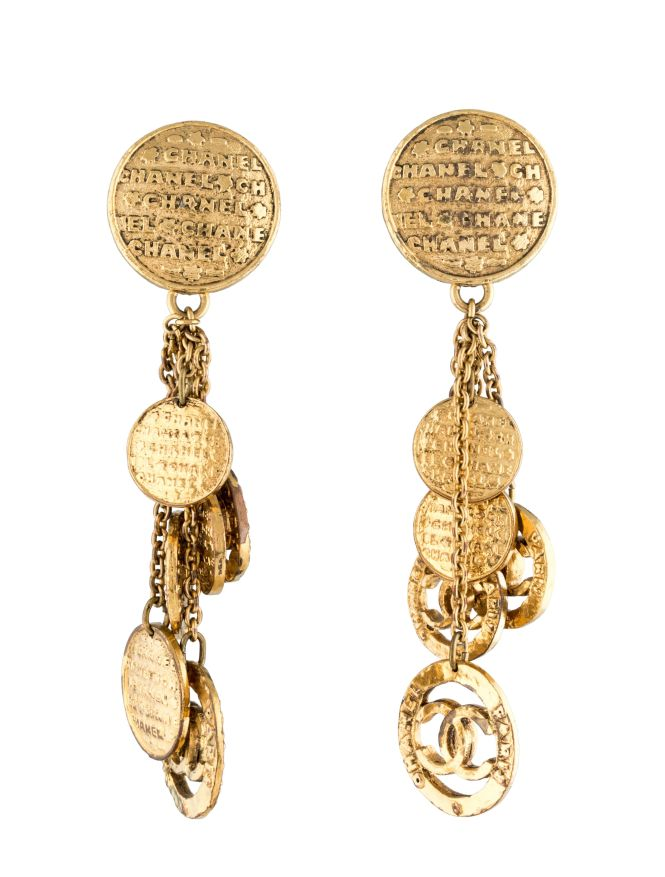Vintage Chanel Cc Chandelier Earrings Free Shipping And Guaranteed Authenticity On