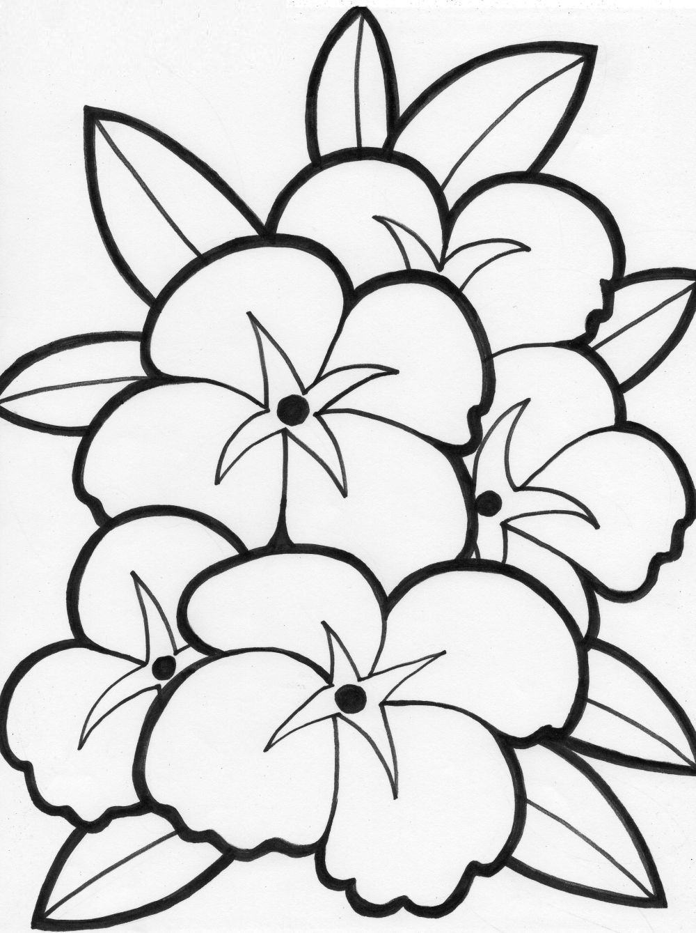 coloring pages of flowers for teenagers difficult Only