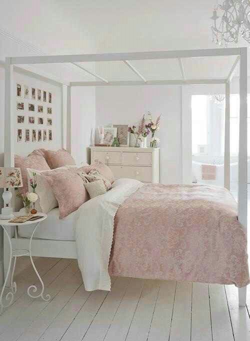 30 shabby chic bedroom decorating ideas | pink white, bedrooms and