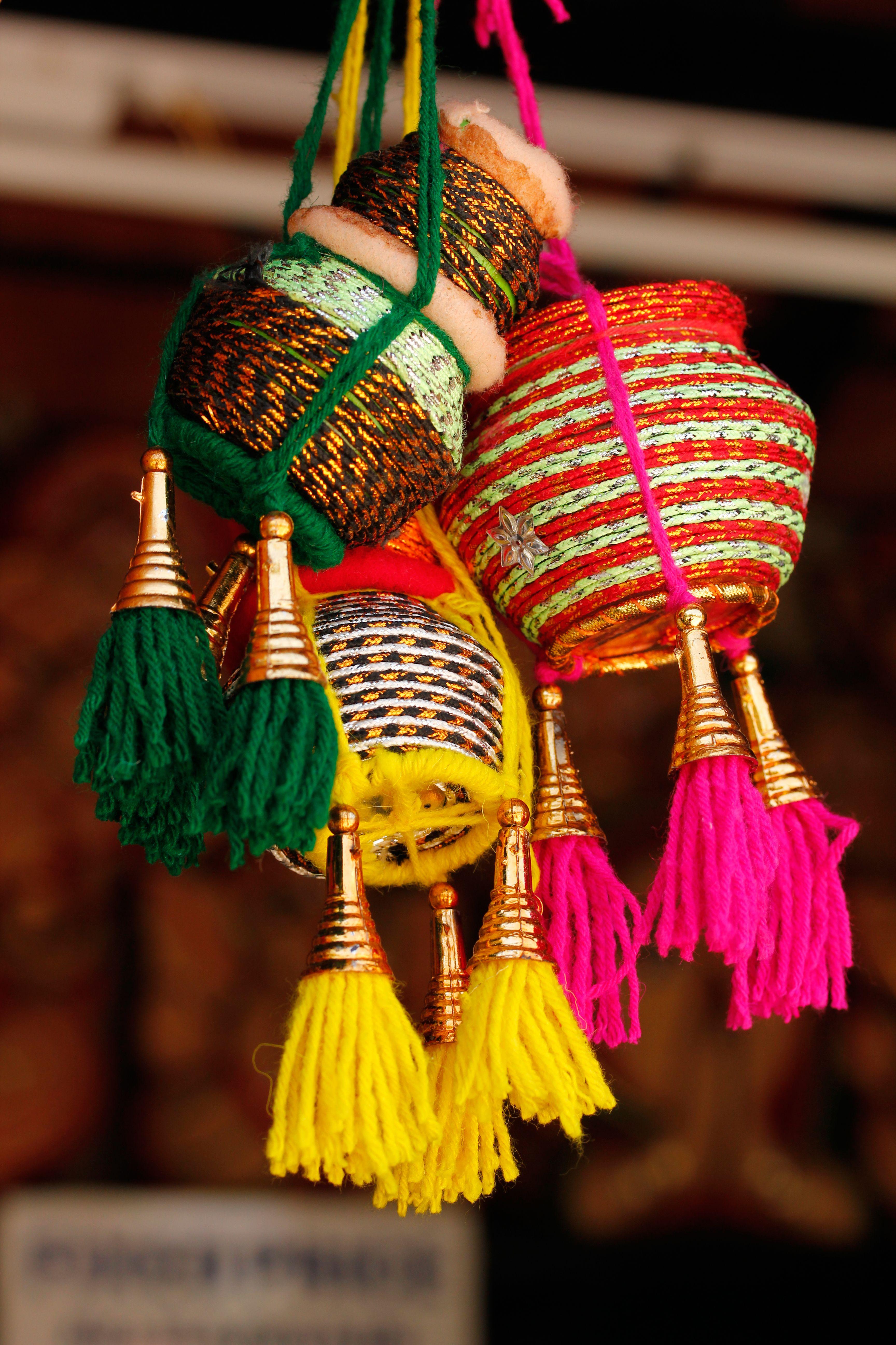 Colorful Handmade Indian Pots Aspiração Inspiração