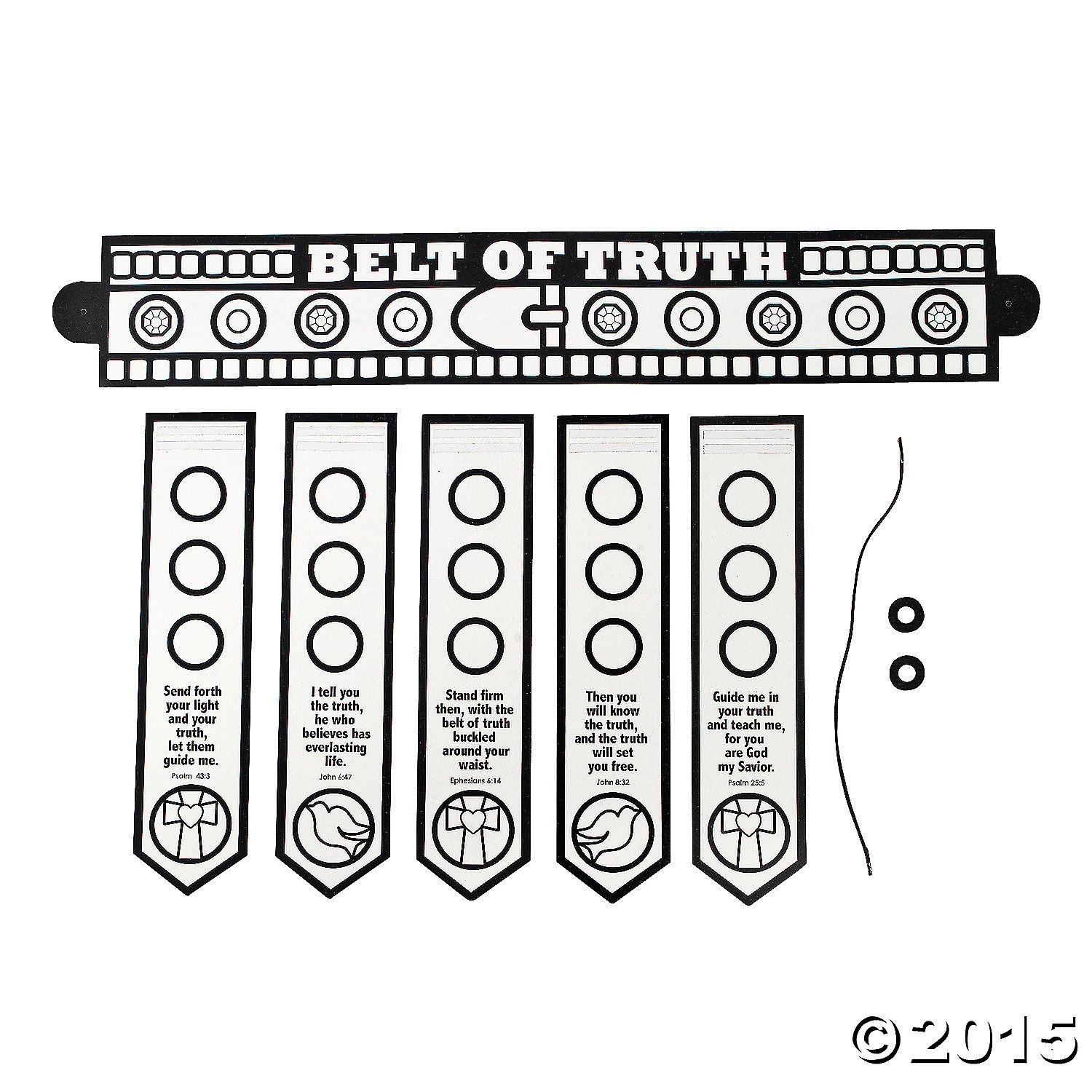 Color Your Own Armor Of God Belt Buckle Up Your Belt Of