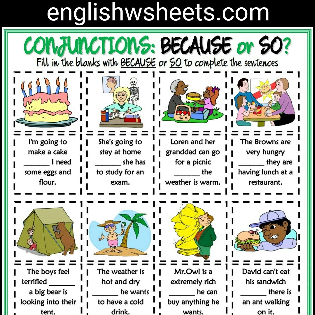 Because Or So Esl Printable Grammar Exercise Worksheet For