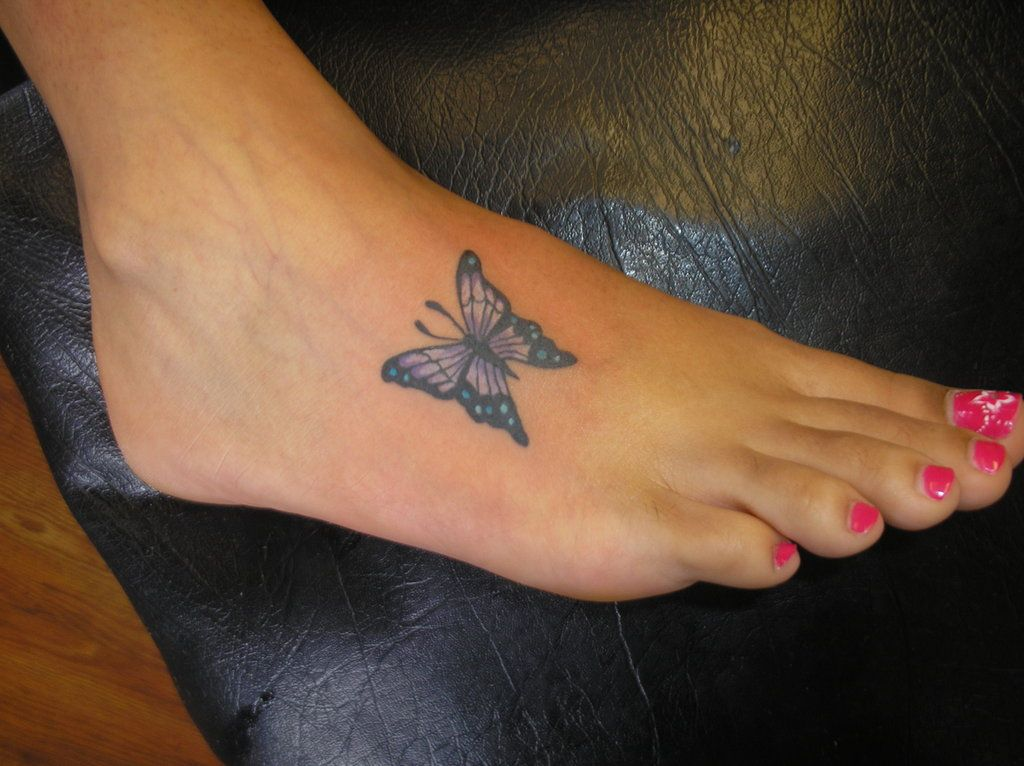 small butterfly tattoo on foot ideas Free Butterfly