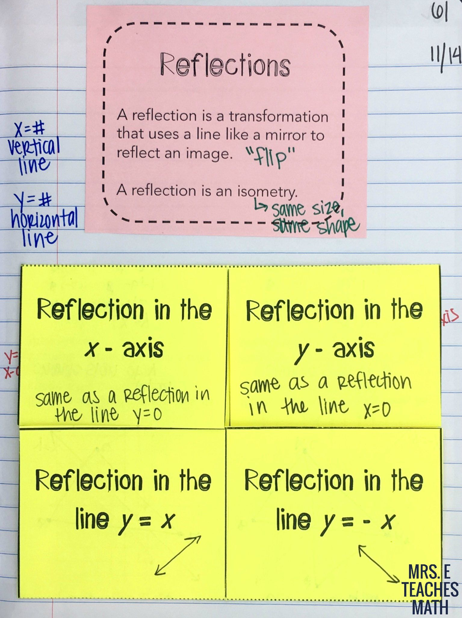 Reflections And Rotations Inb Pages