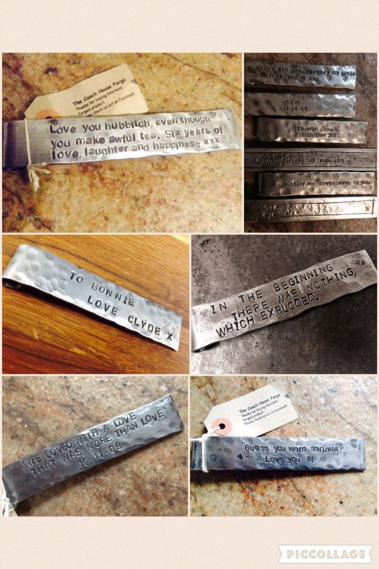 6th Wedding Anniversary Gift Idea, Iron Bookmark