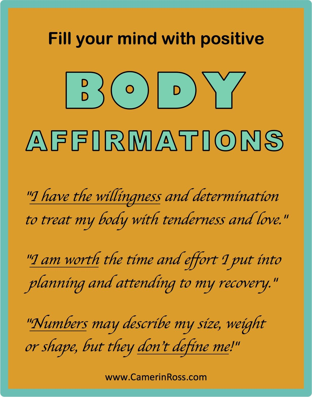 Fill Your Mind With Positive Body Affirmations