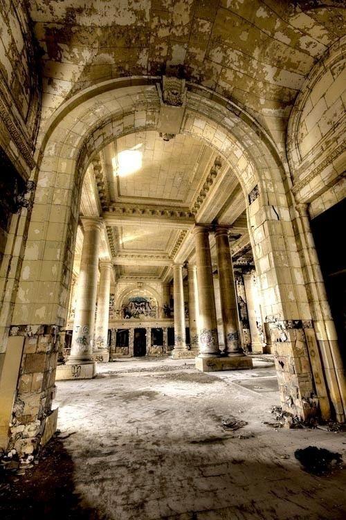 8x12 Neglected Beauty Abandoned Building Surreal Fine Art Detroit Cityscape Architectural