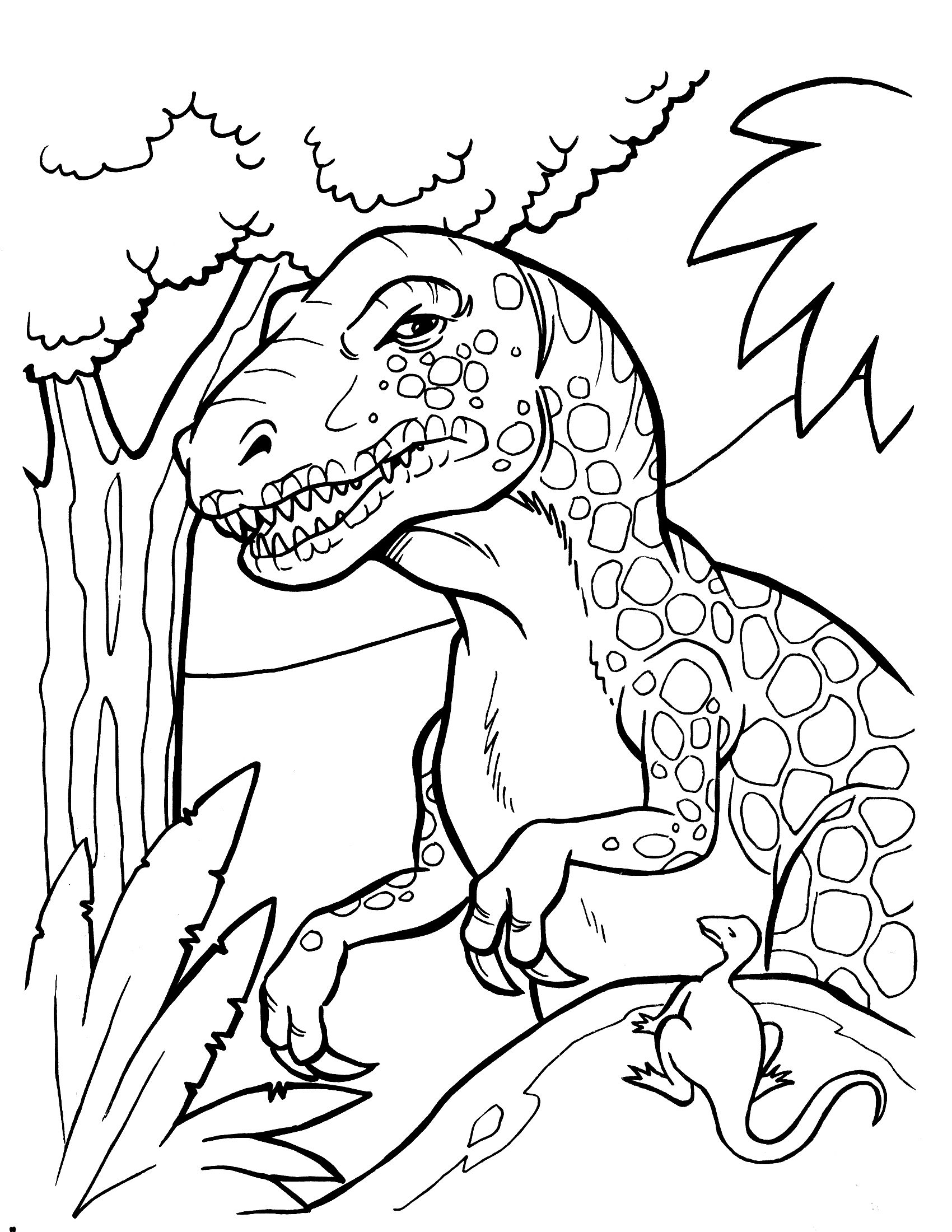 Free Printable Dinosaur Coloring Pages Clip and Color