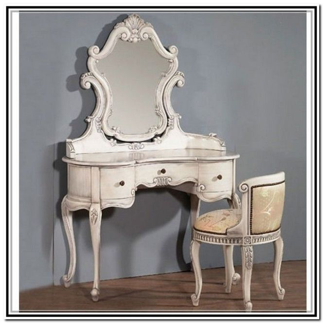 Antique Makeup Vanity Set Furniture Reference Oryxeojmax