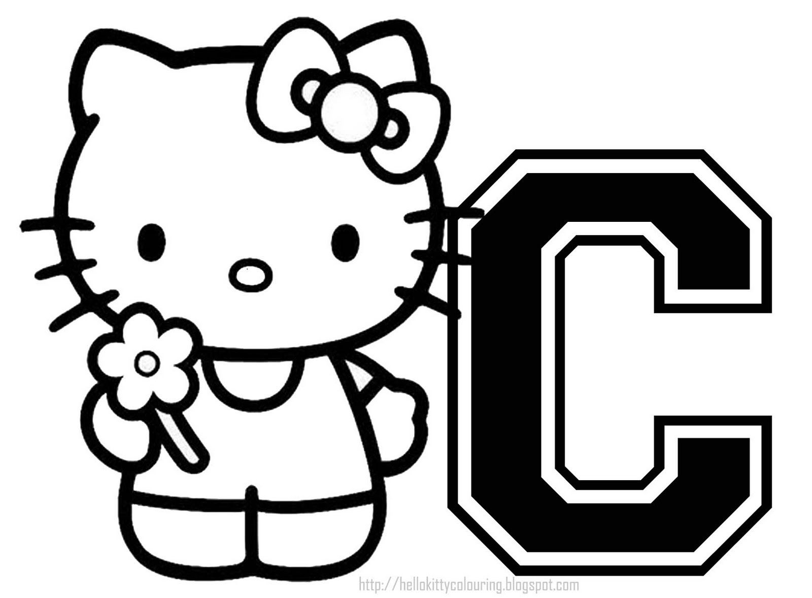 Personalised Hello Kitty Coloring Page Letter 283 29