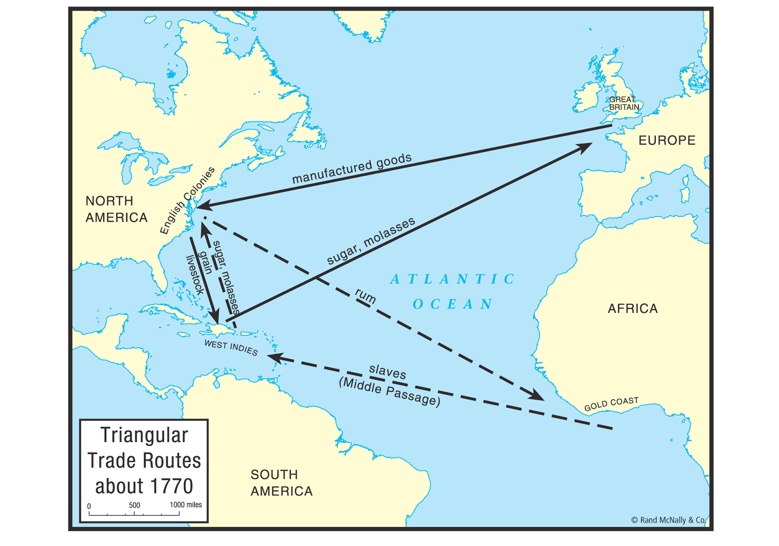 Triangular Trade Routes Mod1 Colonization Pinterest
