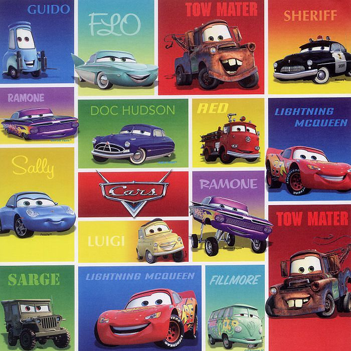 Good reference for all of the Cars 1 characters Cars
