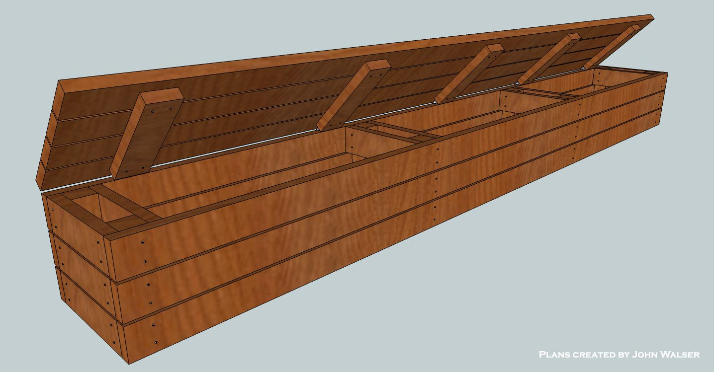How to build a deck storage bench. House Pinterest