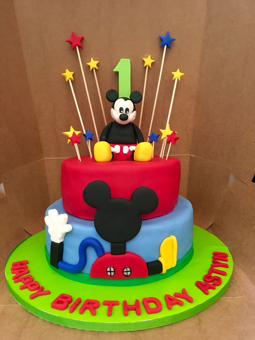 Mickey Mouse Cake Birthday boy One year old cake