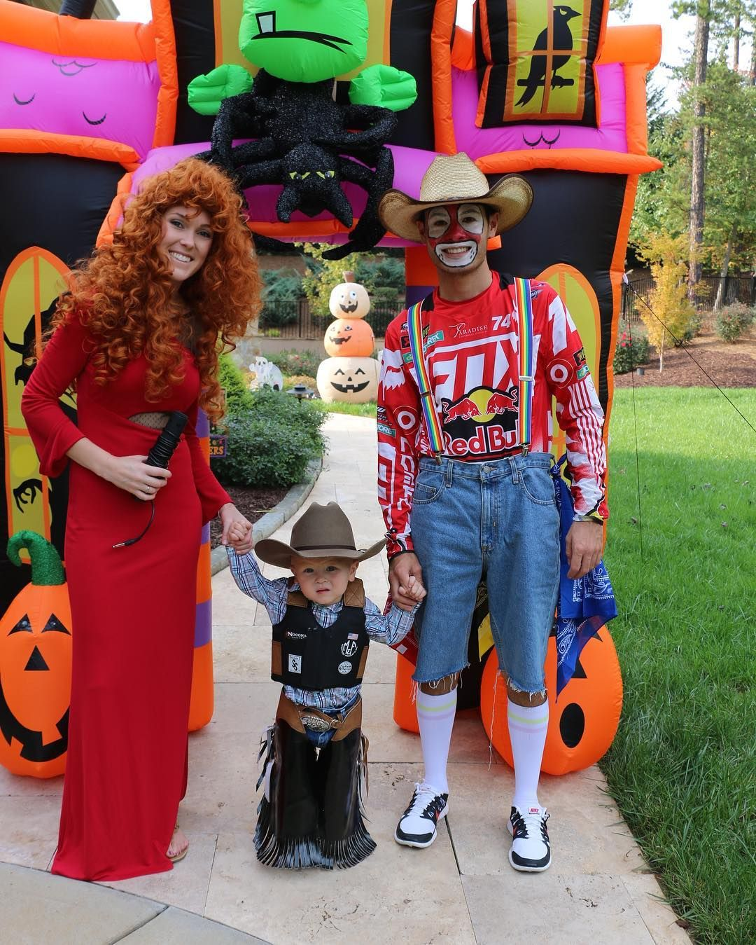 Kyle Larson family Had a fun Halloween party at the house
