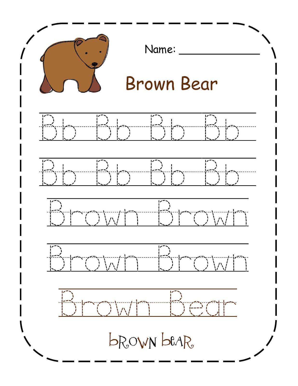 Preschool Printables Brown Bear Color Words Printable T Is For Teddy Bear
