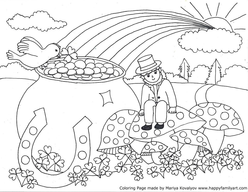 St Patrick S Day Coloring Pages