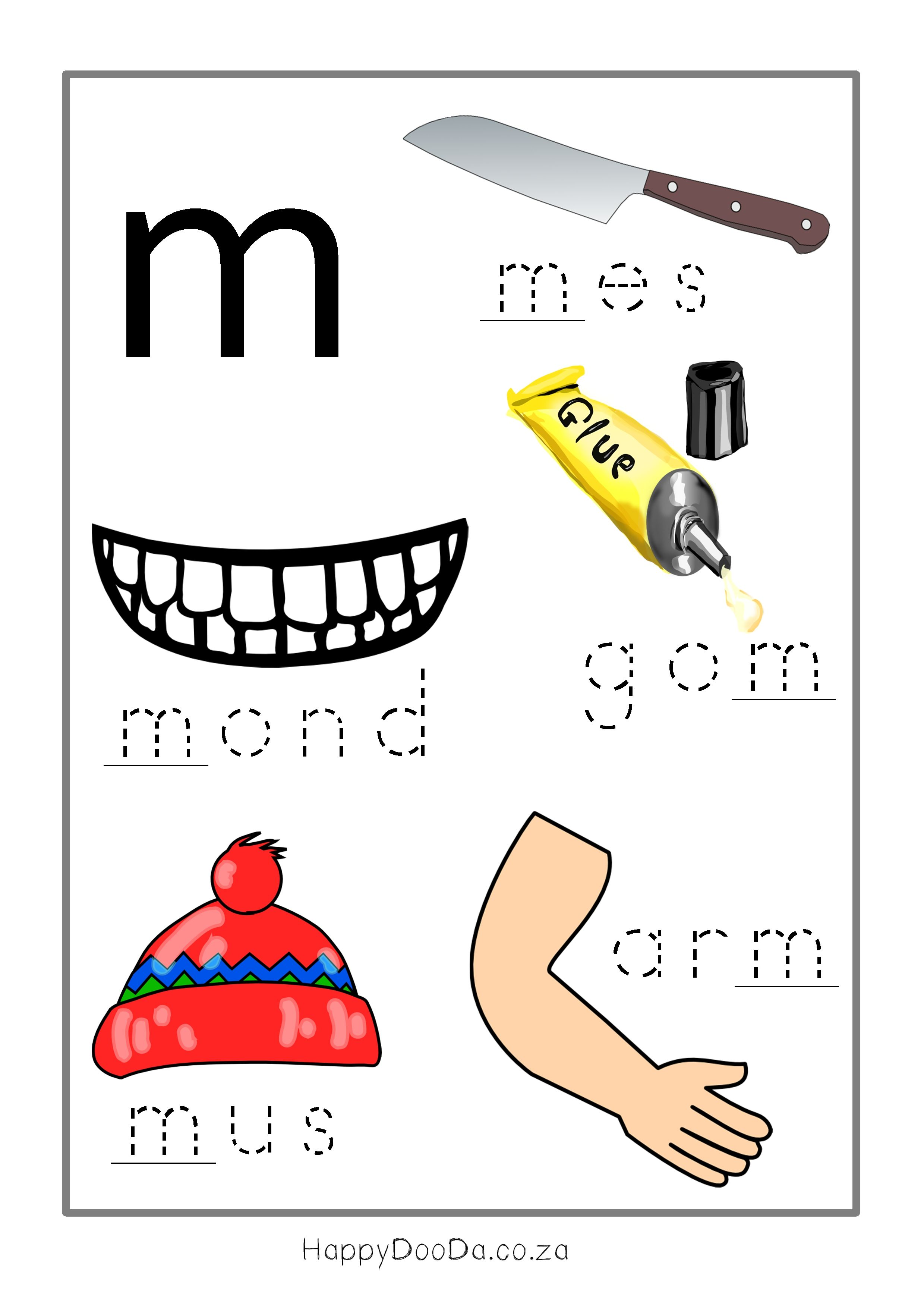 Afrikaans Worksheets Grade 2