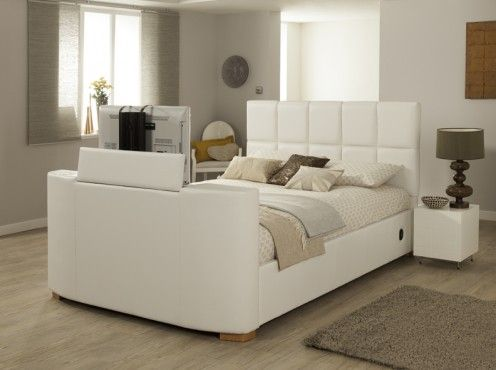 Imedia White Grey With Storage 3ft Single Tv Bed Free Delivery Installation Beds Pinterest Online And