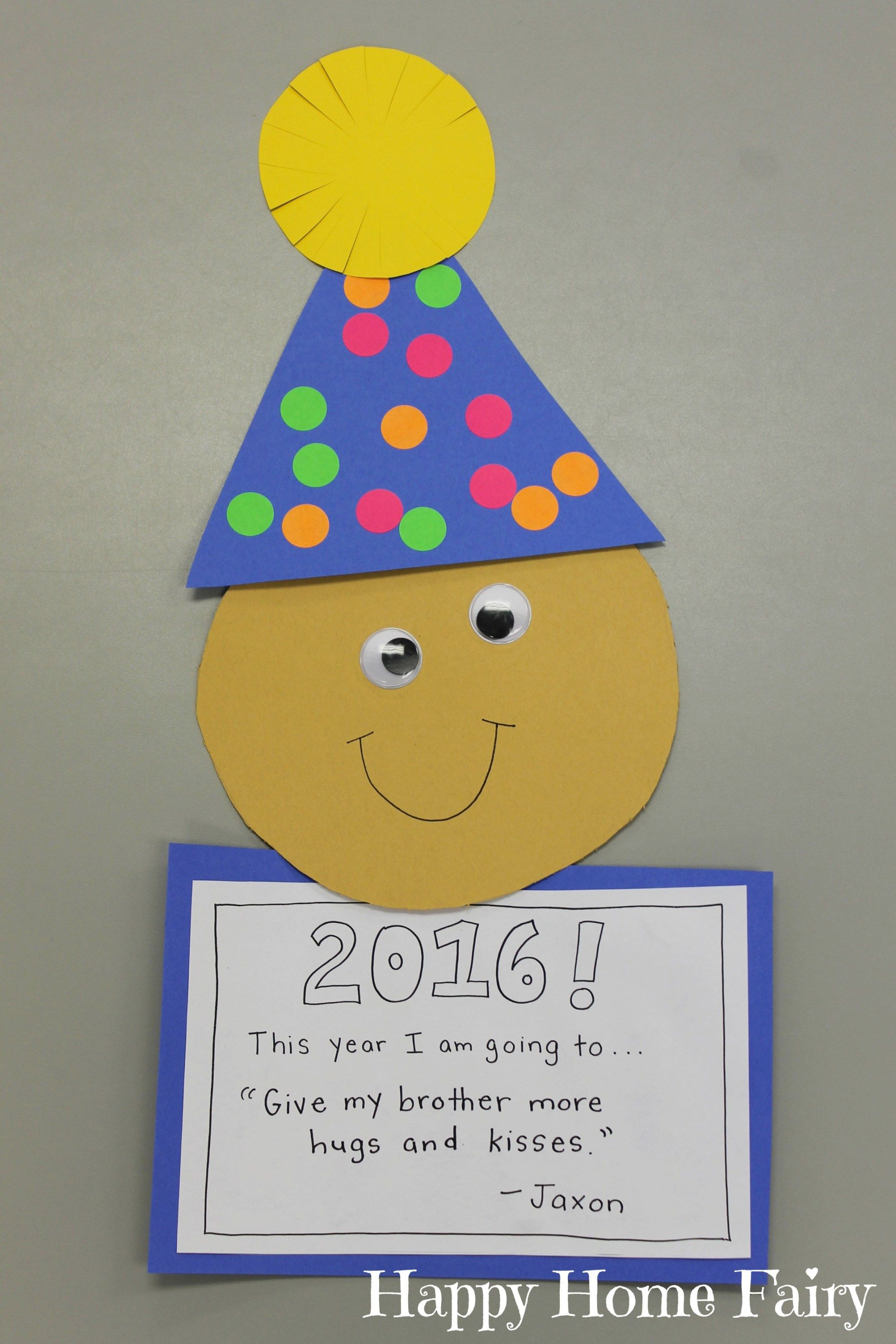 Easy New Year S Craft For Preschoolers