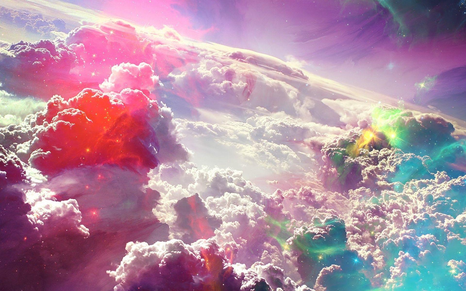 clouds wallpaper   colorful fantasy clouds art wallpaper   sky