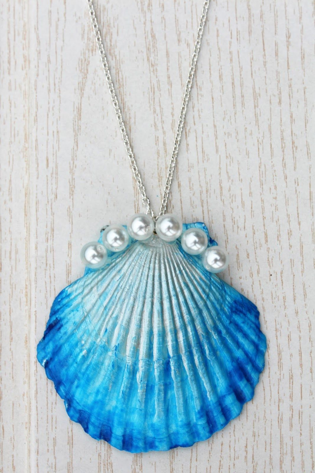 The Mermaid's Candy DIY DIP DYE MUSCHELKETTE shell