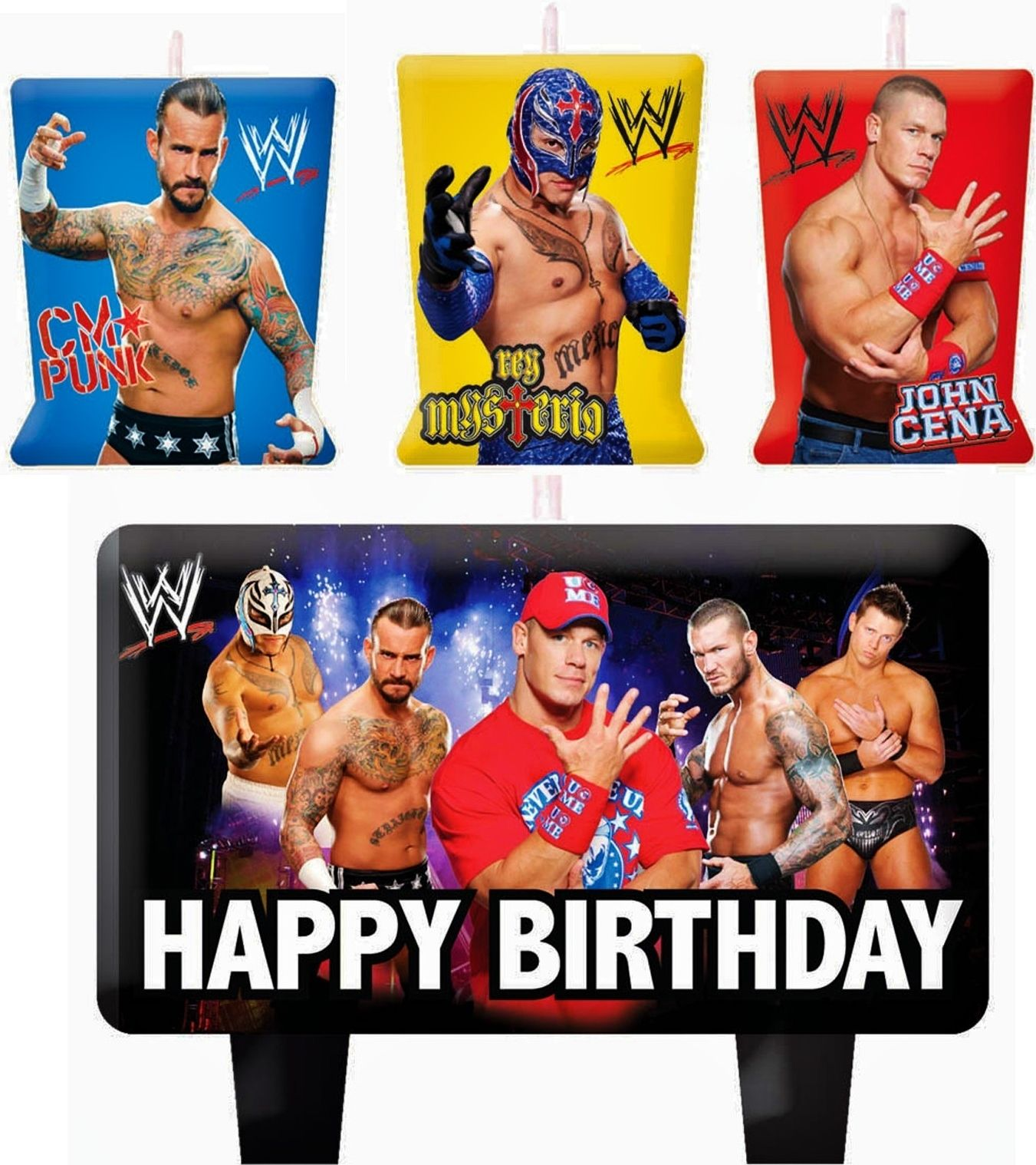 Wwe Wrestling Birthday Cake Candles Set Decoration Toppers