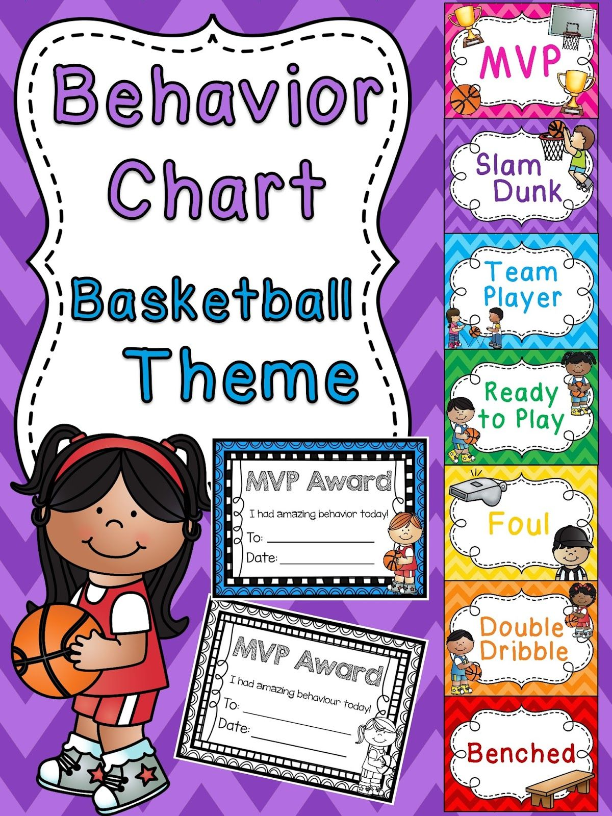 Basketball Behavior Chart For Sports Theme Classroom A